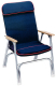 PADDED DECK CHAIR W/RED PIPING - Seachoice