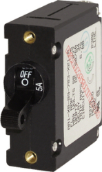 CIRCUIT BREAKER AA1 5AMP BLACK - Blue Sea Systems