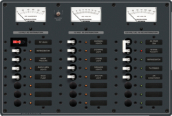 PANEL 8XVAC/16X12VCDC 24 POS. - Blue Sea Systems
