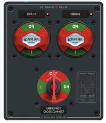ional Metal Dual bank Battery Management Panel - Blue Sea Systems