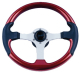 Spargi Leather Look Boat Steering Wheel, Red  …