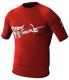 Mens Xs Basic Short Sleeve Shirt, Red - Body Glove