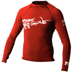 Mens Small Basic Long Sleeve Shirt, Red - Body Glove