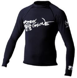 Mens Xs Basic Long Sleeve Shirt, Black - Body Glove