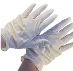 Latex Disposable Gloves / Lg / Pair - Spectrum Color